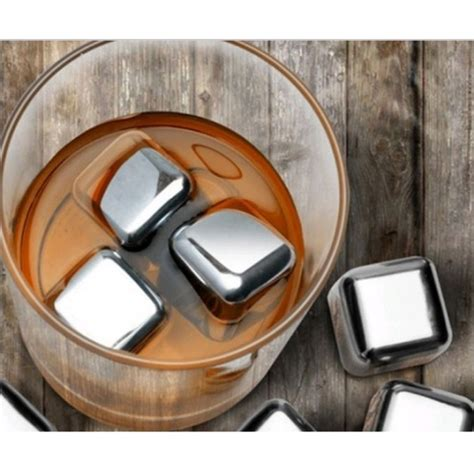 Es Batu Stainless Steel Reusable Cube 4 Pcs reusable stainless steel cube 4pcs es batu stainless jakartanotebook