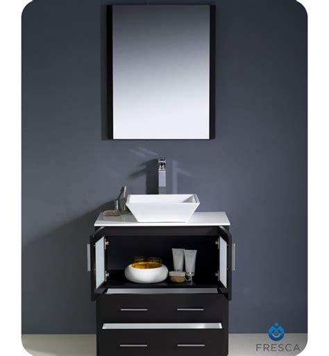 Modern Bathroom Vanities With Vessel Sinks 30 Torino Espresso Modern Bathroom Vanity W Vessel Sink Platinum Bath