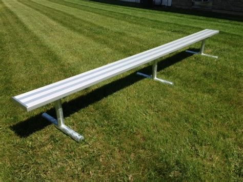 portable aluminum players bench bleacher guys