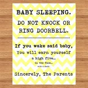 Baby Sleeping Sign For Front Door Baby Sleeping Sign Front Door Do Not Disturb High By Mommabish