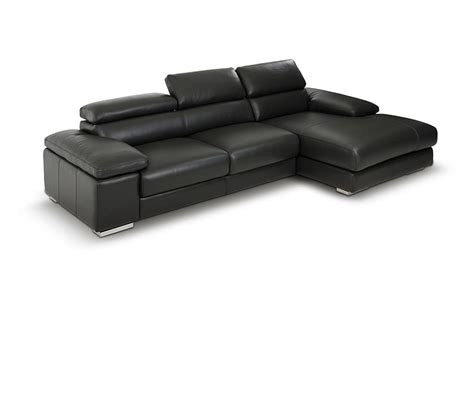 Modern Leather Sectional Sofa Dreamfurniture Aston Modern Leather Grey Sectional Sofa