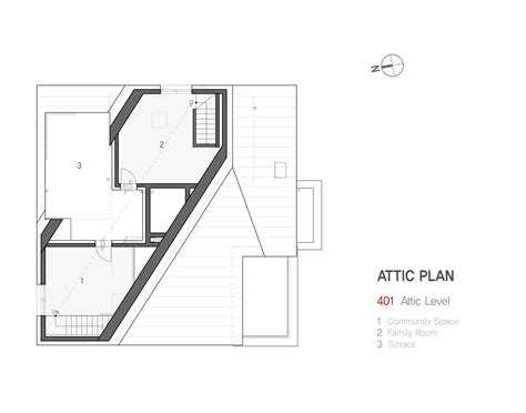 house with attic floor plan gallery of yene house design band yoap 33