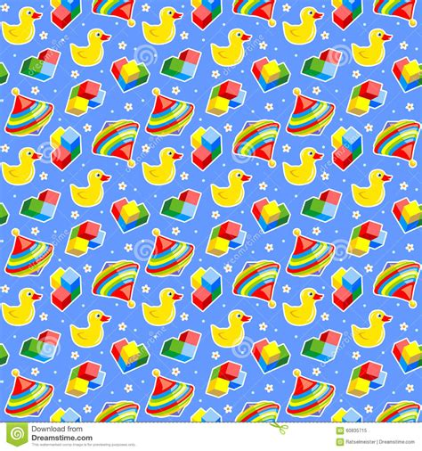 pattern background repeat seamless baby toys background stock vector image 60835715