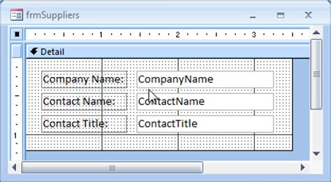 disable layout view for forms and reports in this database ms access 2007 display the form header in design view