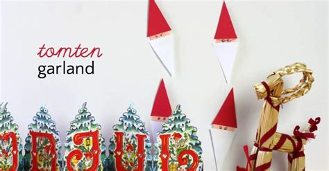 sweden christmas kids crafts easy swedish tomten garland