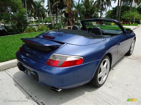 blue porsche convertible 1999 zenith blue metallic porsche 911 carrera cabriolet