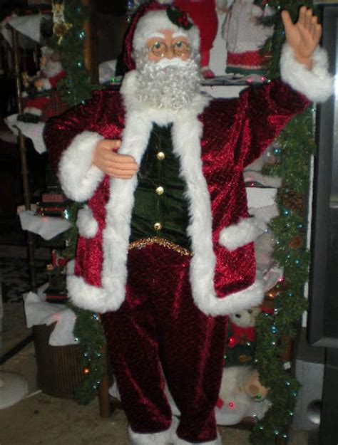 animated 5 foot 3 quot life size santa claus singing and