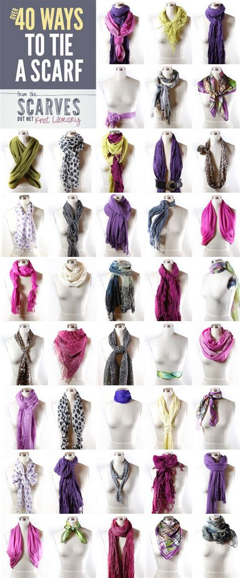 40 ways to tie a scarf pictures photos and images for