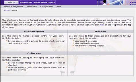admin console administration console