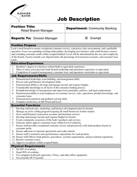 templates for job descriptions 9 job description templates word excel pdf formats