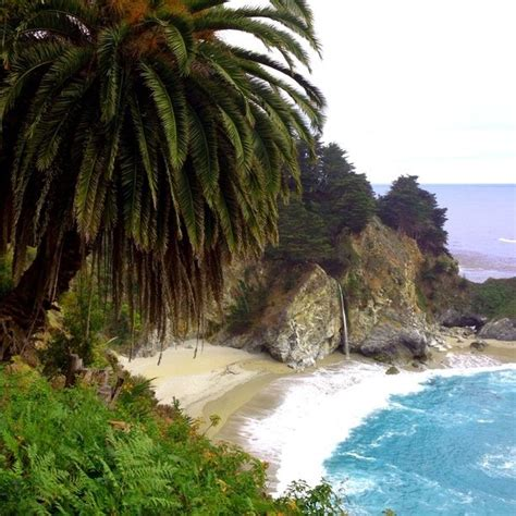 Pch Stop - mcway falls monterey county california by renee hamilton
