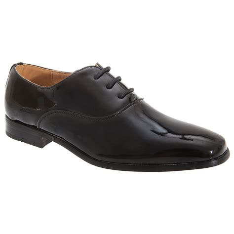 boys leather oxford shoes goor boys patent leather lace up oxford tie dress shoes ebay