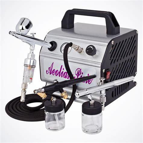 airbrush tattoo kit new 3 airbrush kit air compressor dual spray