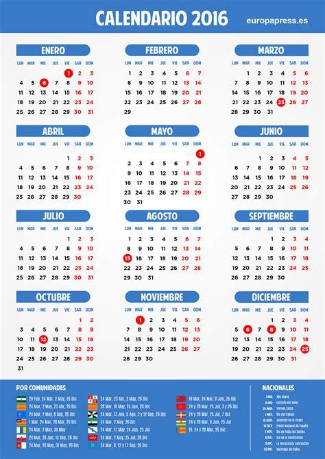 calendario laboral mexico 2016 calendario laboral 2016 vacaciones de navidad semana