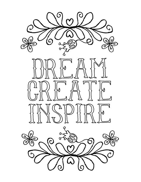 inspire create books inspirational coloring pages to and print for free