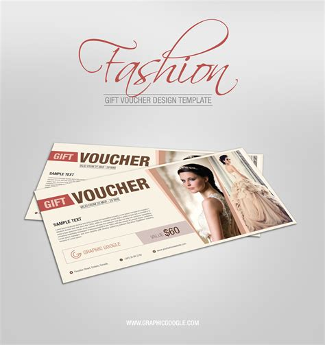templates for vouchers design free fashion gift voucher design template