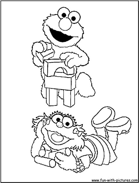 free elmo and zoe coloring pages
