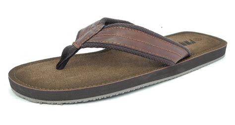 Wedges Sandal Wanita Rwi 318 Mens Leather Look Toe Post Flip Flops Summer Shoes