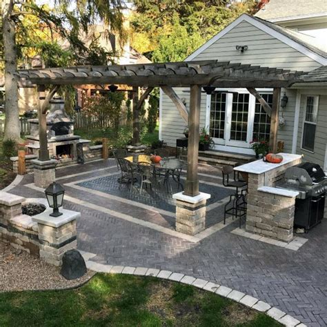 backyard patio design ideas top 60 best paver patio ideas backyard dreamscape designs