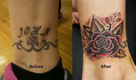 tattoo name cover ups before and after name cover up tattoo by vanzanto on deviantart