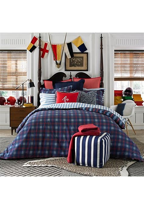boston store bedding tommy hilfiger boston plaid comforter set