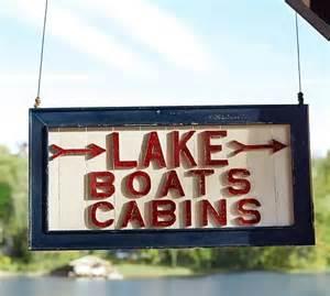 Lake cabin sign pottery barn