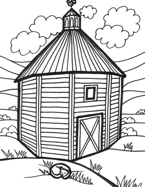 Free Coloring Pages Of Barn To Draw Barn Coloring Page
