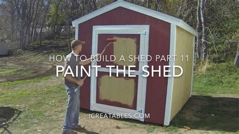 build  shed part    paint  shed youtube