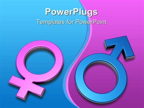 powerpoint templates free download gender powerpoint template 3d gender symbols pink female symbol