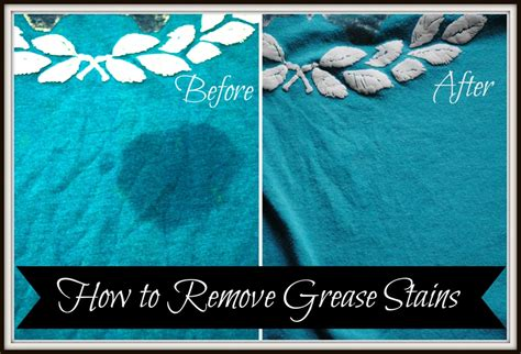 How To Remove Stains by How To Remove Grease Stains We Got Real