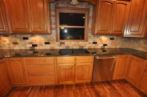 Bathroom Counter Backsplash Ideas Granite Countertops And Tile Backsplash Ideas Eclectic Kitchen Indianapolis By Supreme