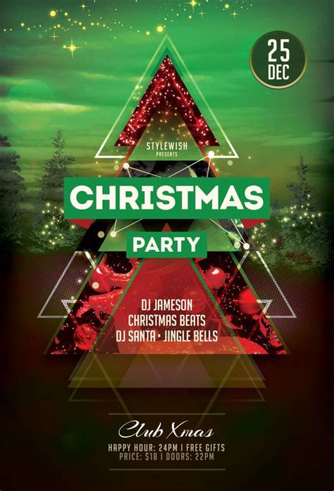 design poster party 27 best christmas flyer design images on pinterest