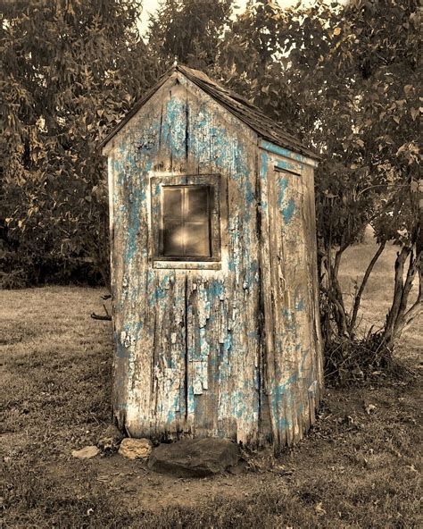 rustic outhouse wall art vintage bathroom decor matted
