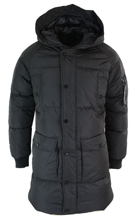 10 Jackets I by Mens Puffer Quilted 3 4 Jacket Coat Casual