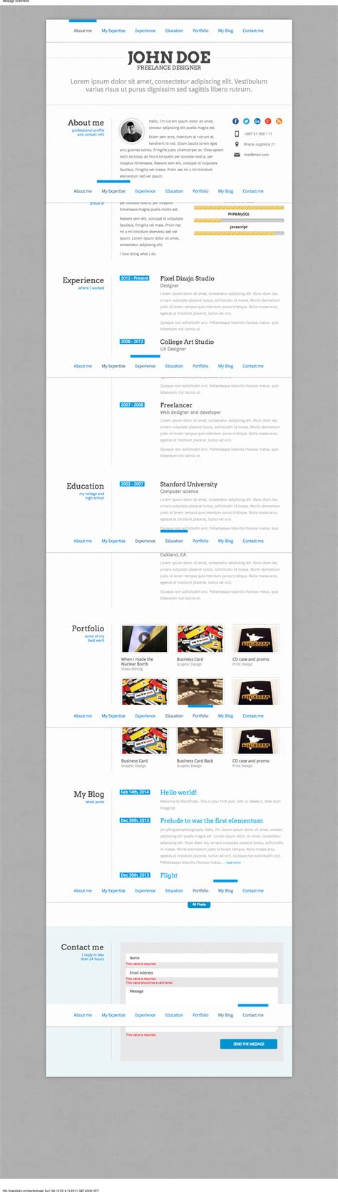 html css responsive layout html css responsive online resume assignment