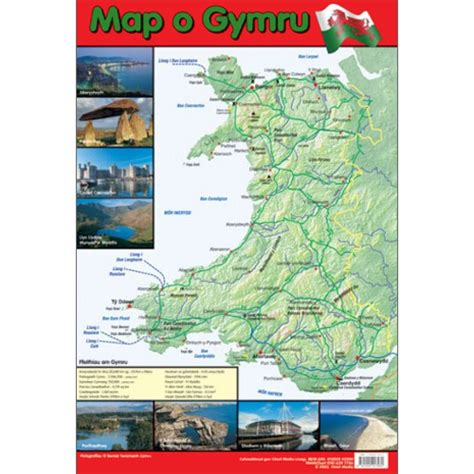 map o map o gymru map of wales poster linguist