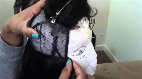 tutorial wig making full wig w lace closure easy tutorial youtube