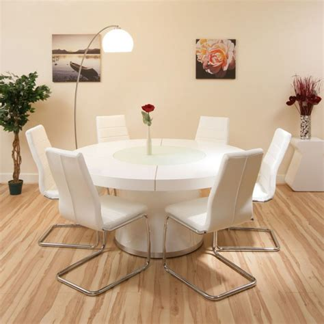 15 best ideas of round design dining room tables sets 15 white round table design ideas for extravagant look of
