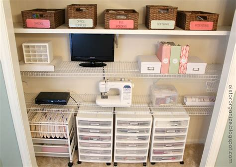office closet organization ideas o is for organize a crafty office closet