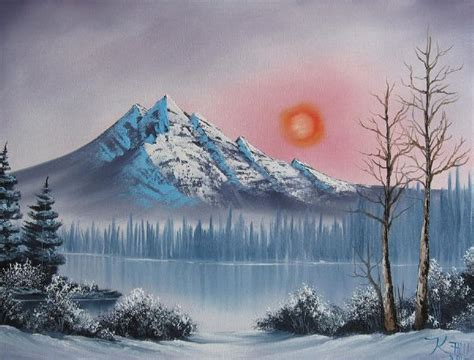 bob ross paintings mountains bob ross mountain sunset painting at paintingforsale me