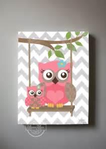 Owl Room Decor Owl Decor Wall Owl Canvas Baby Nursery Owl
