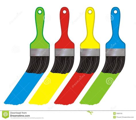 color brushes stock photos image 5906193