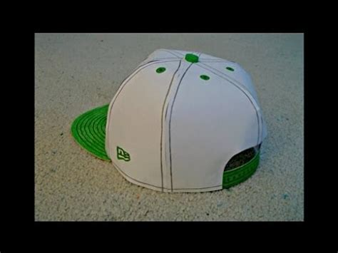 How To Make A Paper Baseball Cap - paper model of a energy snapback hat