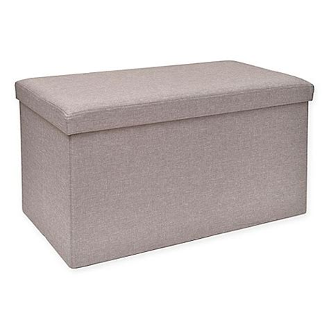 storage ottoman bed bath and beyond studio 3b folding storage ottoman with tray bed bath