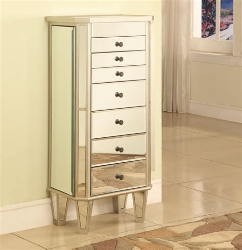Mirrored Jewellery Armoire by Jewelry Armoire Hives U0026 Honey Silver Metallic
