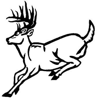 running deer coloring page deer running outline wall decal custom wall graphics