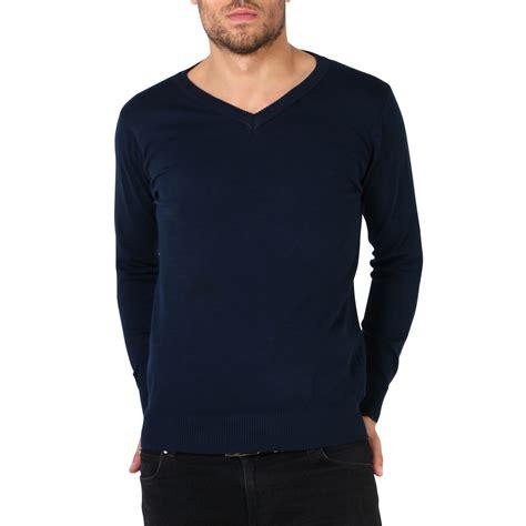 plain neck sweater mens soft cotton knit plain v neck fashion jumper knitwear