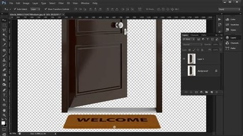 open pattern in photoshop photoshop tutorial how to create the open and closed door