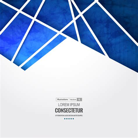 blue geometric polygons vector background  welovesolo