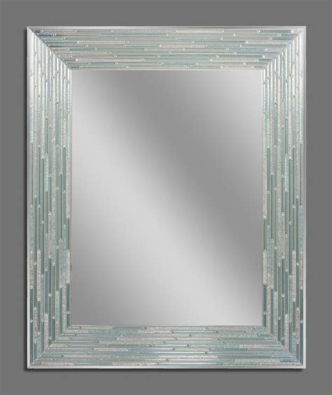 decorative mirror and glass reeded sea glass decorative frameless wall mirror 1205